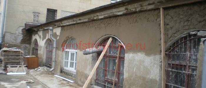 Ремонт штукатурки стен фасада